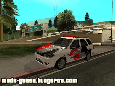 Fiat Weekend Policia Militar de SP para GTA San Andreas