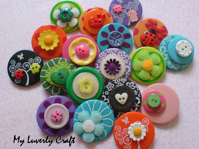My luverly craft button brooch sale sale for Craft buttons for sale