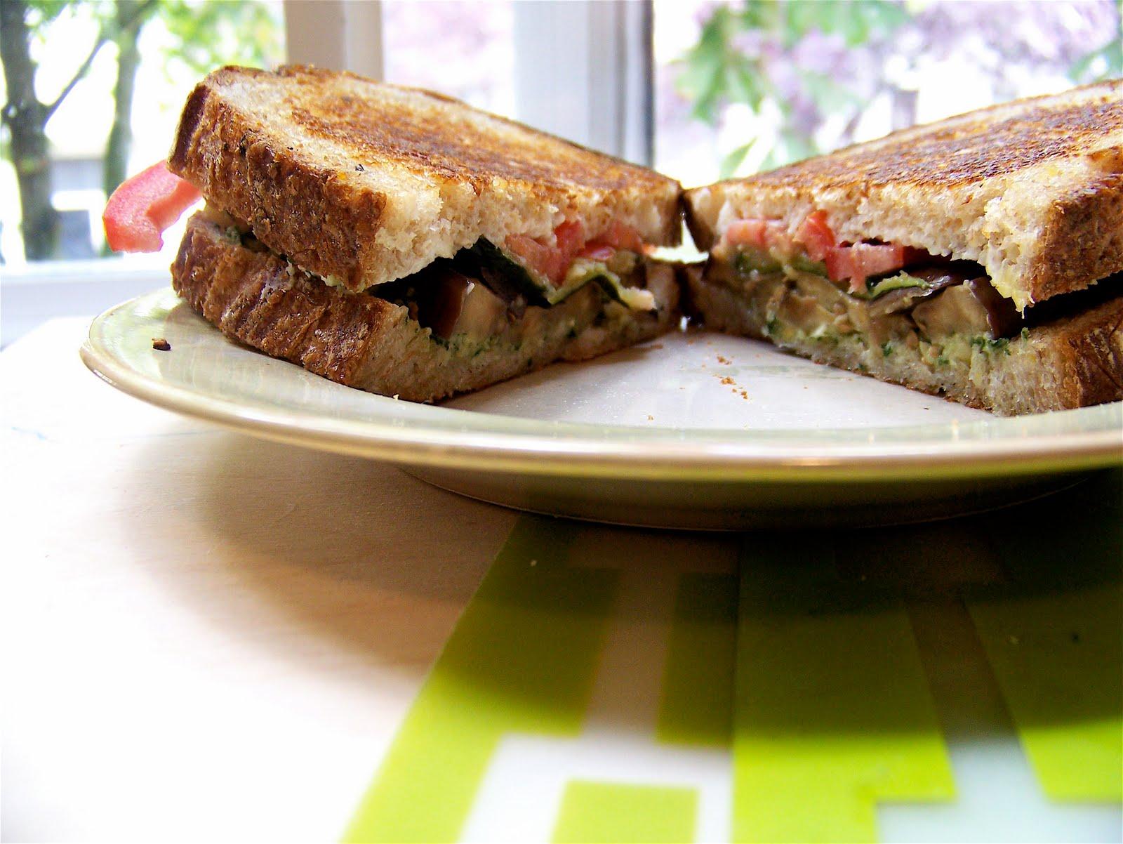 Pesto-Roasted Veggie Sandwiches Recipe — Dishmaps