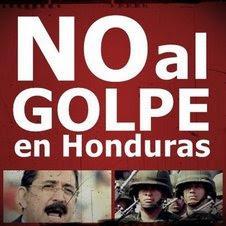 NO AL GOLPE DE HONDURAS