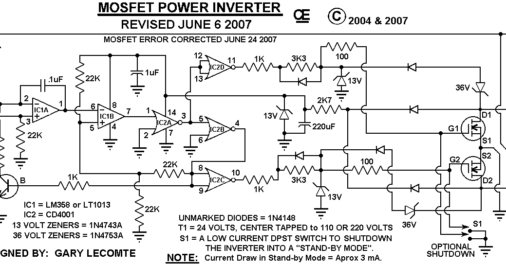 500w Mos-fet Power Inverter