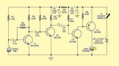 low cost hearing aid schematic gambar skema rangkaian elektronika
