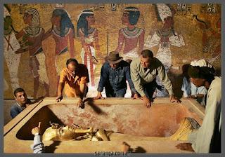 Pintura de la cámara funeraria de Tutankamon