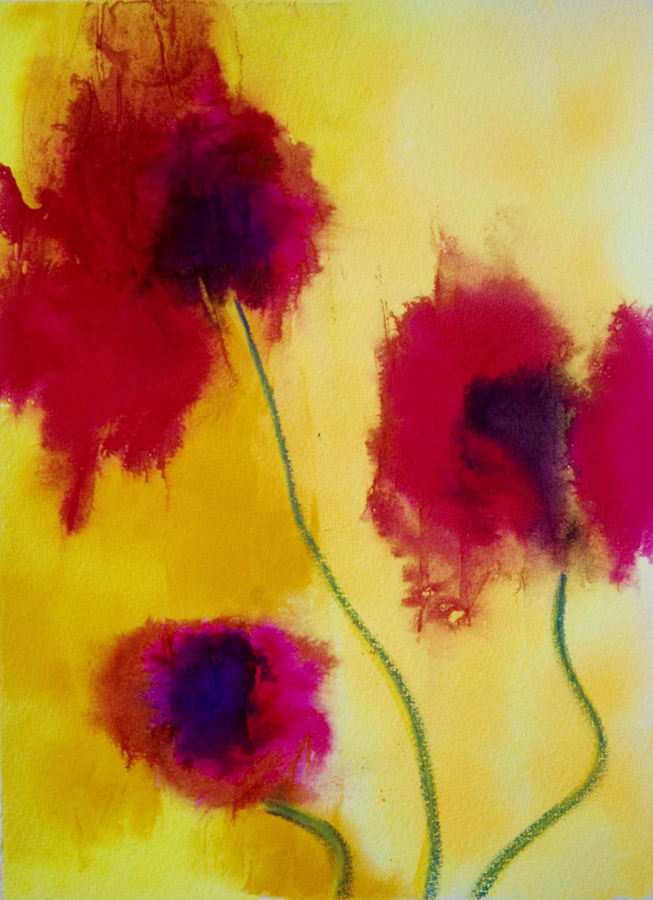 Daily painters abstract gallery contemporary abstract for Abstract watercolour flowers