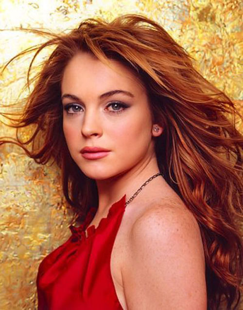 Lindsey lohan red head