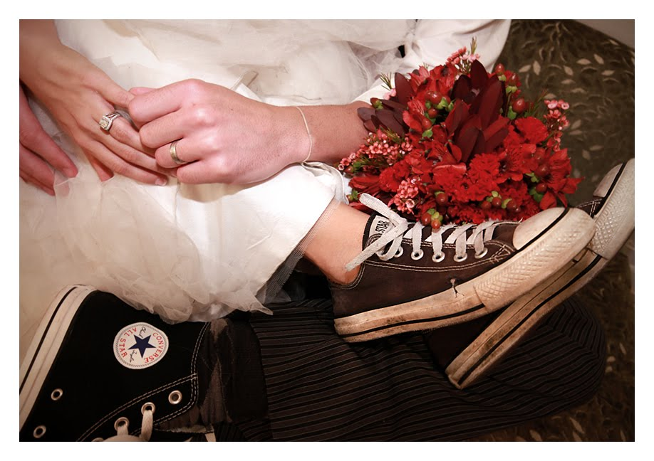 The Bride And Groom Loved Their Converse