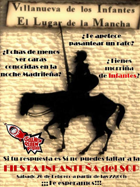 Sálvese quien pueda presenta: Infanteños en Madrid