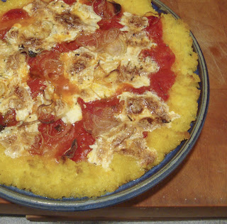 Cooking 4 the Week: T-Minus 30: Deep Dish Polenta Pizza