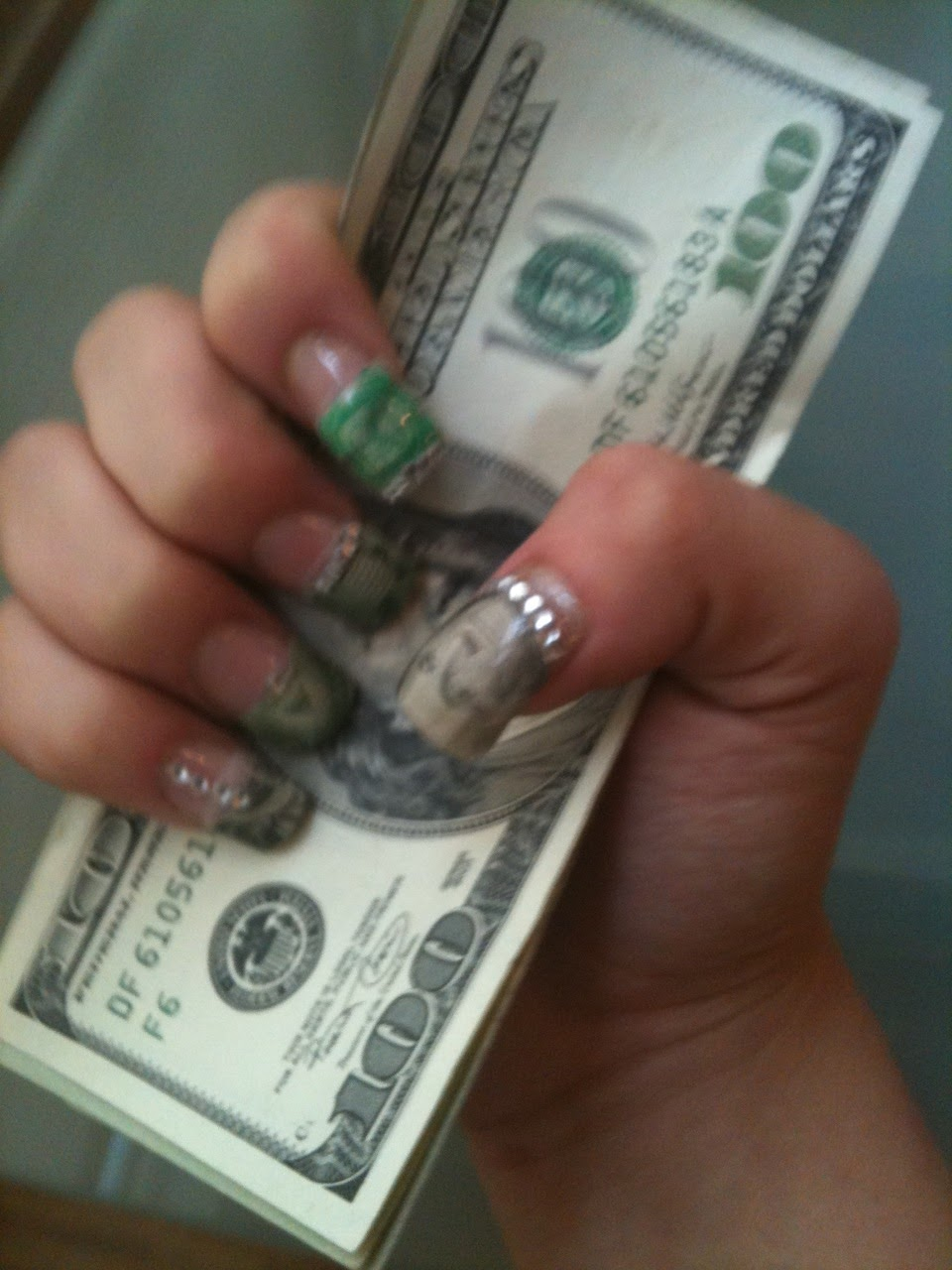 Nail design with money : See these nails money