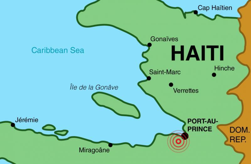 Haiti Earthquake Map