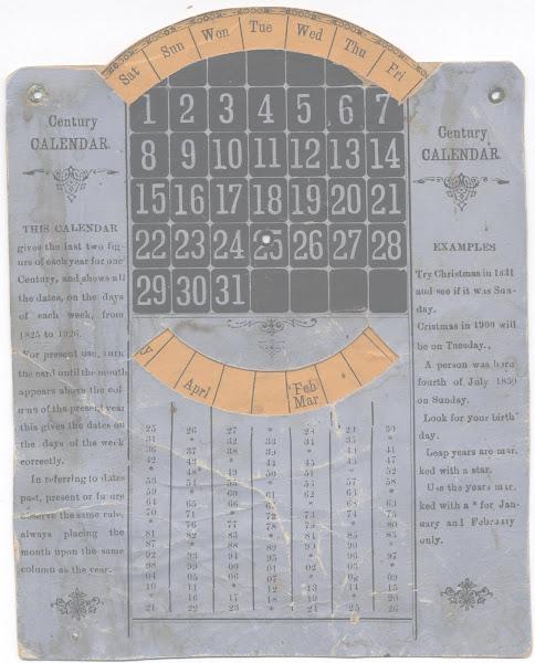 H C Davidson's dial Calendar