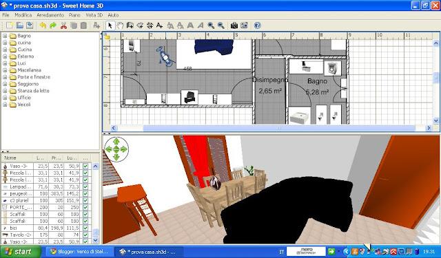Grafica di sweet home 3d nella prima noteremo l interfaccia di