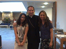 My Daughters with Bishop Burbidge