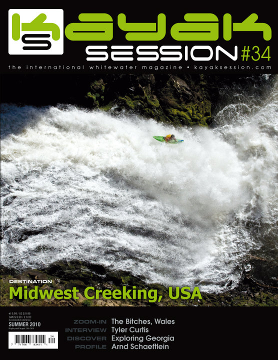 Kayak Session Magazine Cover featuring Todd Wells