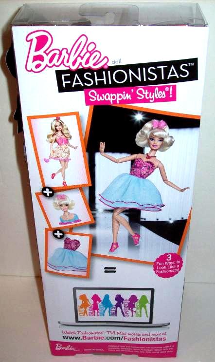 Barbie fashionistas swappin' styles - mais uma nova geração de dolls