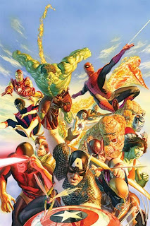 Marvel Super Heroes Secret Wars Omnibus Alex Ross Mike Zeck Jim Shooter Spider-Man Human Torch Thing Colossus She-Hulk Hawkeye Wolverine Captain America Wasp Cyclops Rogue Captain Marvel Monica Rambeau Nightcrawler Iron Man Hulk Marvel Cover hardcover hc comic book