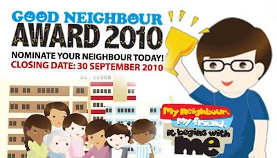 Good Neighbour Award 2010, Singapore
