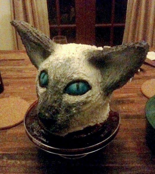 Jana*s Fun Cakes . blogspot: The Siamese Cat Head Cake