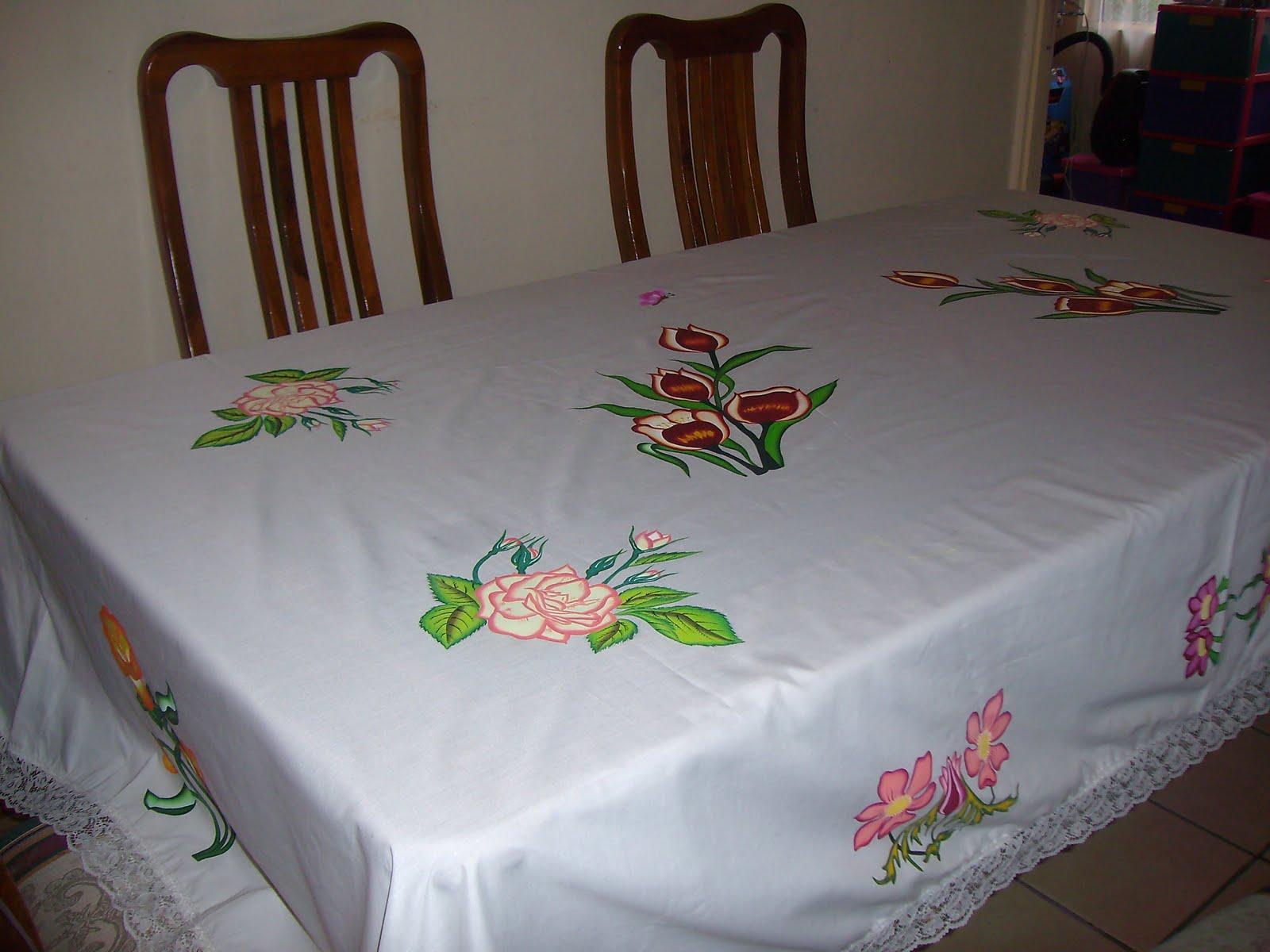 Arte en tela mantel para mesa rectangular - Mantel para mesa exterior ...