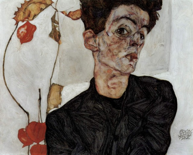 Egon Schiele - Page 2 Egon_Schiele_-_Selfportrait_with_Chinese_lantern_fruits