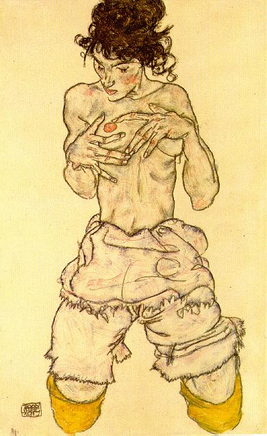 Egon Schiele - Page 3 Egon_Schiele_-_Woman_touching_her_breast