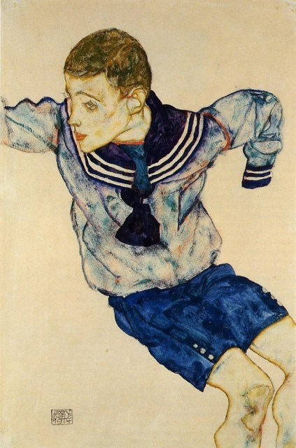 Egon Schiele - Page 3 Egon_Schiele_-_Boy_in_a_Sailor_Suit