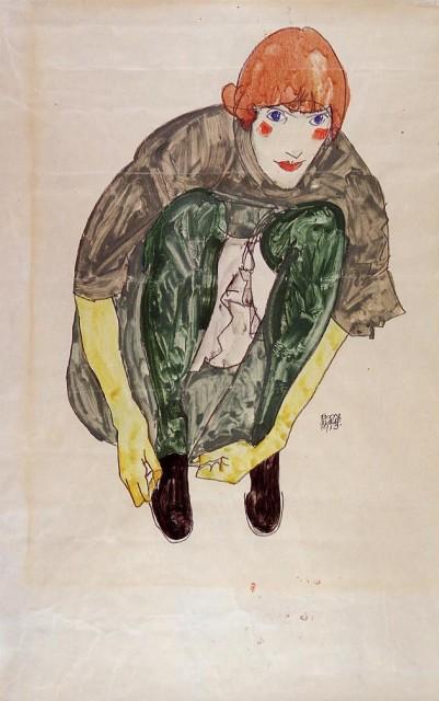 Egon Schiele - Page 3 Egon_Schiele_-_Crouching_Figure