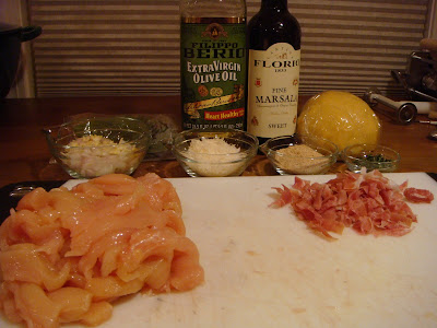 ingredients for chicken marsala ravioli filling