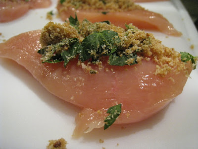 raw chicken with stuffing