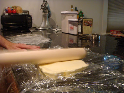 flattening butter for puff pastry