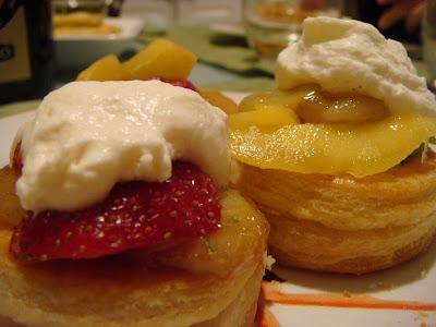 fruit-filled vols-au-vent