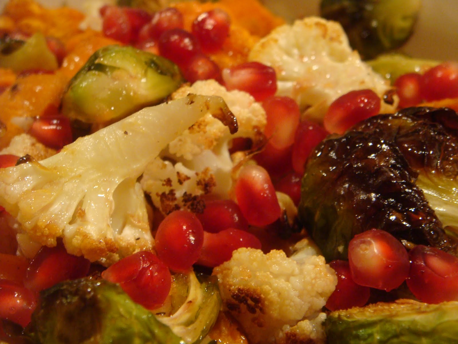 pomegranate vinaigrette over the vegetables and toss with pomegranate ...