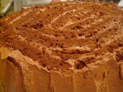 trimmed cake