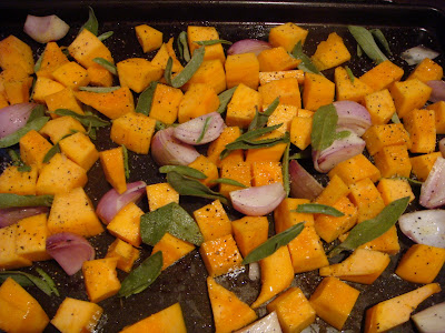 Roasted pumpkin, sage, and shallots