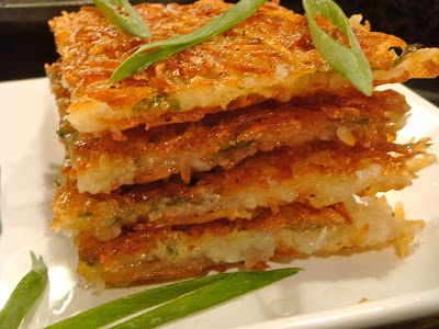 Scallion potato cake