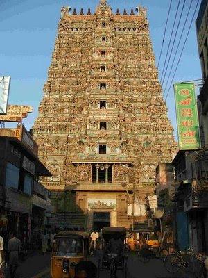 Gopuram of Madurai Meenakshi Temple Tamil Nadu