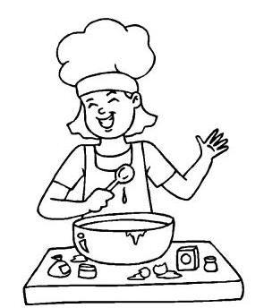 Preparados listos a cocinar fichas para colorear for Cocinar imagenes animadas