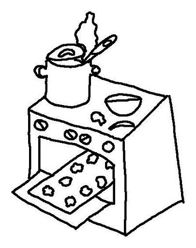 Dibujos de cocinas para colorear imagui for Cocina dibujo