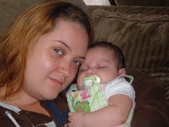 Hannah with baby Jocelyn