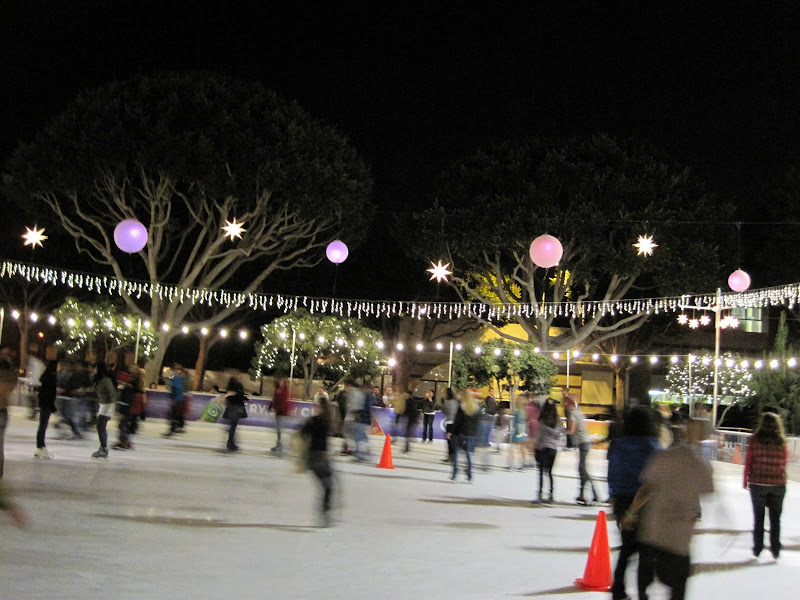 "We went ""ice skating"" in Santa Monica and it's in quotes because a)."