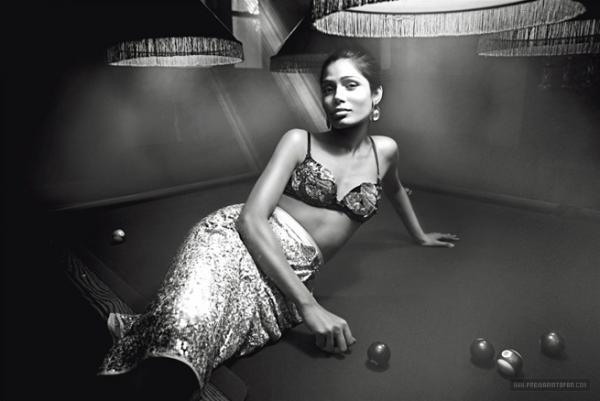 Freida Pinto's Photoshoot for L'Uomo Vogue [Italian Vogue]