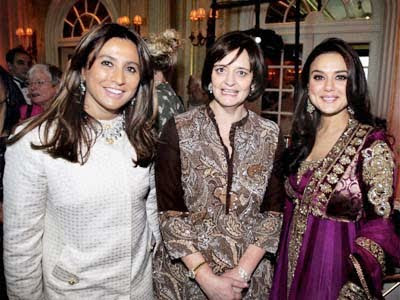 Preity Zinta with Cherie Blair