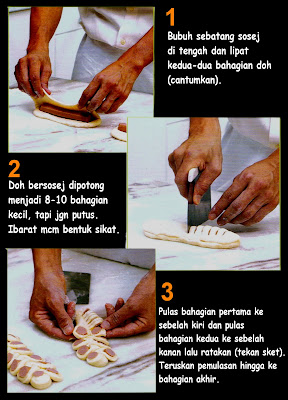 cara membuat roti kismis