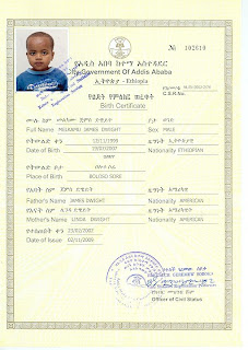 To ethiopia china and back his birth certificate arrives today we moved one step closer to our son we received his birth certificate it states that we are his parents by ethiopian law his picture shows his big yelopaper Images