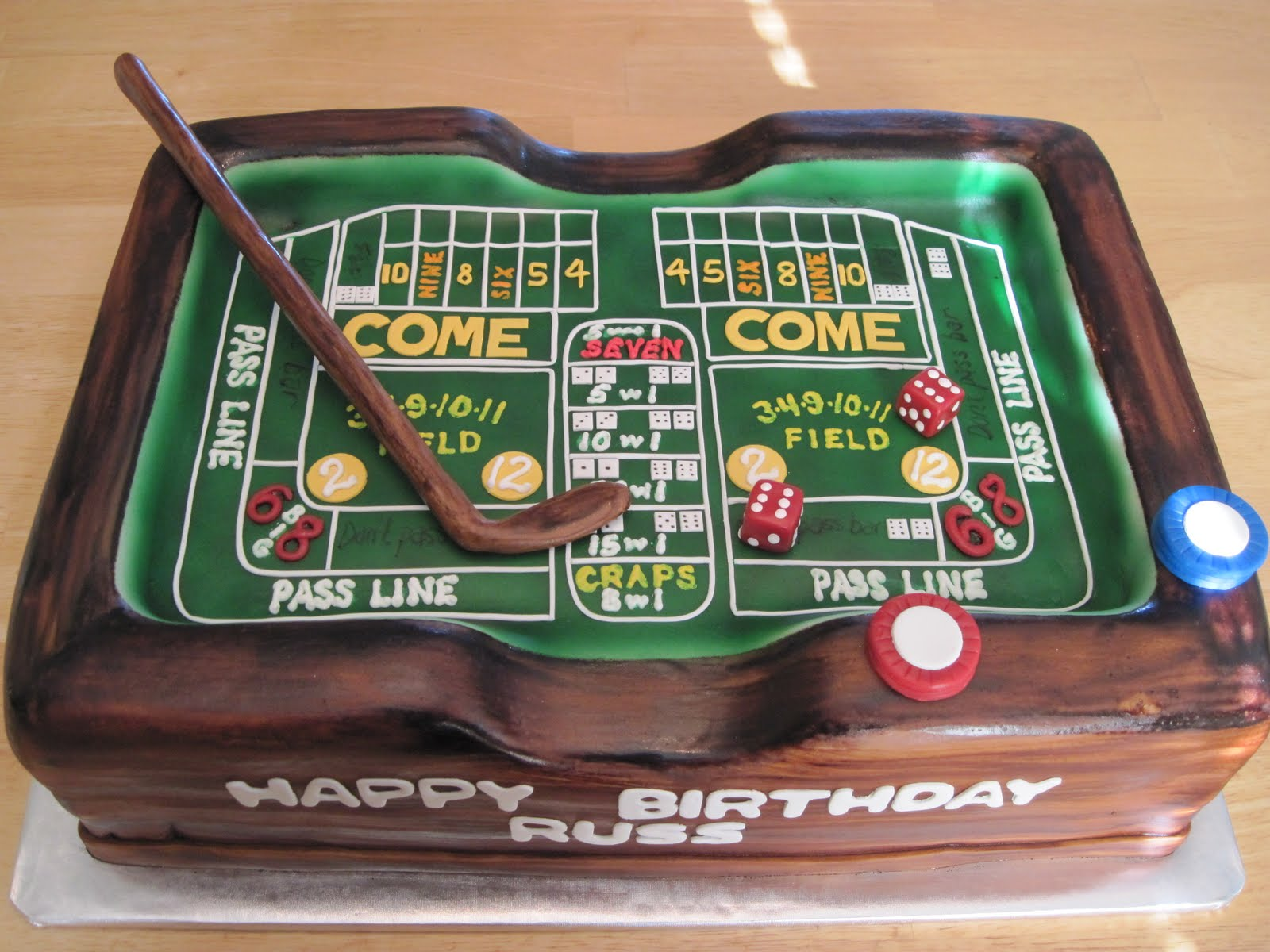 Heather 39 s cakes and confections craps table for 12 craps table