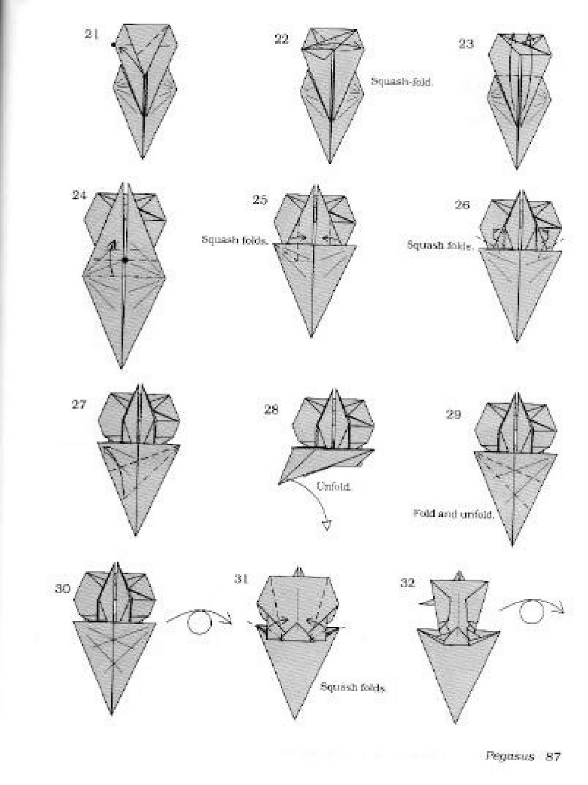 easy origami dinosaur instructions