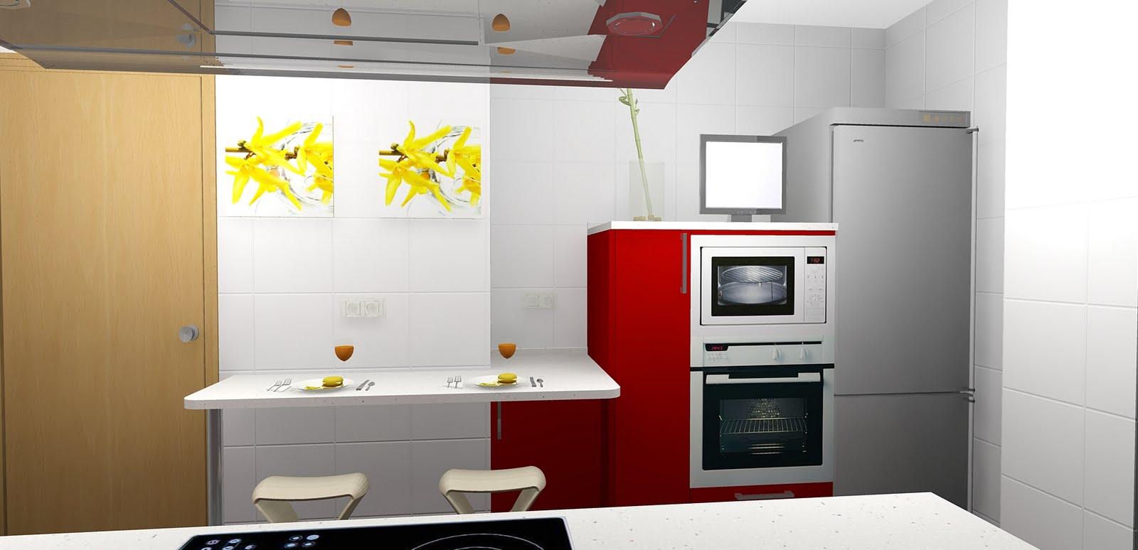 Todococina cocina roja y blanca - Cocinas rojas y blancas ...