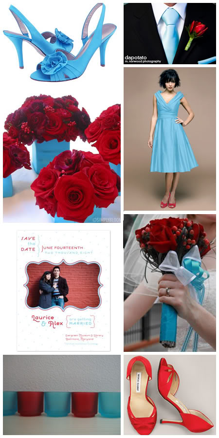 South Austin Wedding Story aqua red