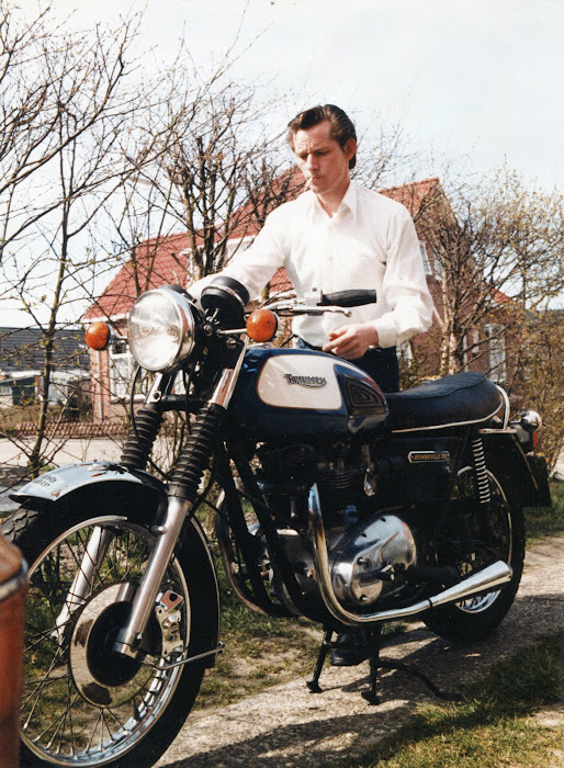 Me & The Bonneville 750 from 1977