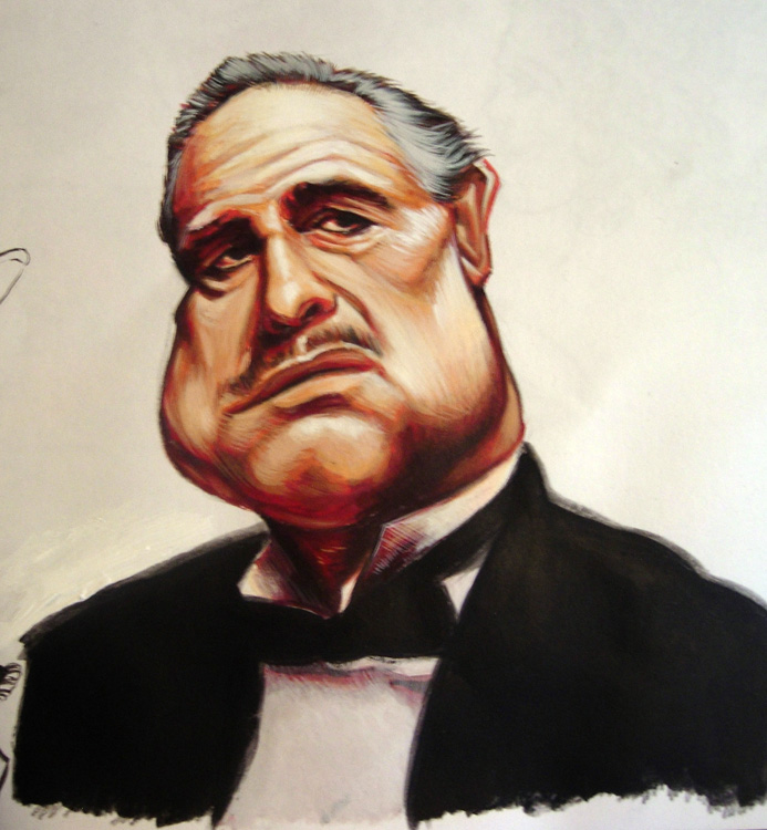 The Agony and the Ecstasy: Godfather Paint Sketch
